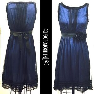 Anthropologie Stilled Night Lace and Tulle Dress